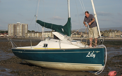 Lily on her drying mooring