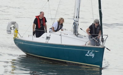 Two ladies improving their sailing skills