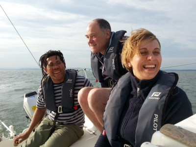 having fun whilst learning to sail